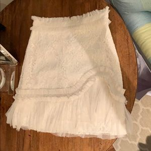 White lace Alexis skirt